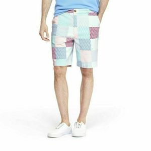 "Vineyard Vines Patchwork Whale  9"" Shorts Sz 38"